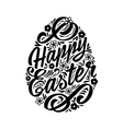 Happy Easter greeting Card hand-drawing Lettering vector image vector image