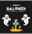 happy halloween cartoon ghost tomb stone im vector image