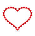 heart frame icon love symbol valentine s vector image vector image