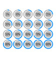 icons template pie graph circle percentage blue vector image