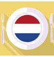 kitchen of Netherlands vector image vector image