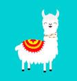 llama alpaca childish bacollection cute vector image