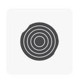 lumber black icon vector image