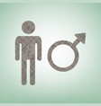 male sign brown flax icon on vector image