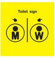 Man and woman toilet sign vector image vector image