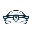marine sailor hat element for nautical design vector image vector image