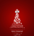 Merry Christmas greeting card with Christmas tree