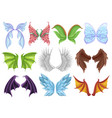 Mythical animal wings set decorative creature