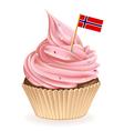 Norwegian Cupcake vector image vector image
