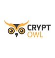 owl logo isolated on white background vector image vector image