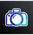 photo camera icon symbol photography vibrant vector image vector image