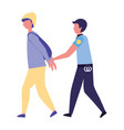 police man justice jail vector image
