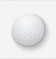 realistic 3d white classic golf ball icon vector image vector image