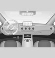 realistic black and white car interior vector image vector image