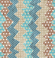 retro cloth seamless pattern with grunge effect vector image
