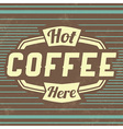 Retro Coffee Vintage Background vector image vector image