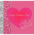 Romantic concept with floral heart vector image
