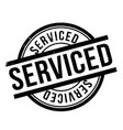 serviced rubber stamp vector image vector image