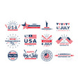 set 4th july icons vector image