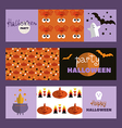 Set of halloween cards2 vector image vector image