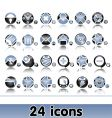 set of original web icons vector image