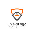 shield with eye logo protection symbol security vector image