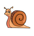 snail friendly cute insect cartoon vector image vector image