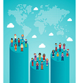 Social network global growth vector image vector image