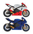 sport bike motor design vector image