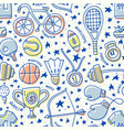 sport seamless pattern vector image vector image
