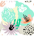 stylized seamless pattern background hand-drawn vector image vector image