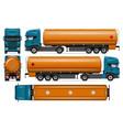 tanker truck mock-up vector image vector image