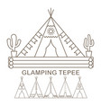 tepee in linear vector image