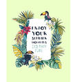 tropical floral summer beach party invitation