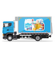 truck car full milk products vector image
