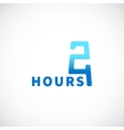 Twenty Four Hours Symbol Icon or Signboard vector image vector image