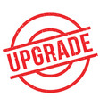 upgrade rubber stamp vector image vector image