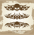 vintage background with skull vinyl decoration vector image vector image
