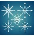 set snowflake christmas sign icon design blue vector image