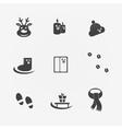 Christmas icons black sign vector image
