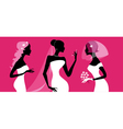 brides silhouettes vector image
