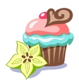 cake with chocolate vector image