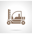Irrigation tractor glyph style icon vector image