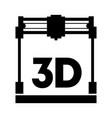 3d printer vector image vector image