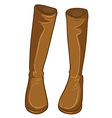 A pair of brown boots vector image vector image