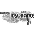 a review on admiral car insurance text word cloud vector image vector image