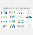 abstract infographic elements set business vector image vector image
