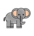 african elephant isolated icon vector image vector image