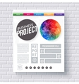 Artistic design template for a Business Project vector image vector image