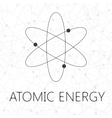 Atom over seamless atoms background vector image vector image